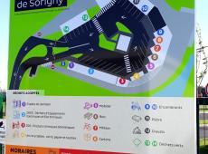 Réalisation (avec nos collègues deSignal Concept) et pose des panneaux de signalétique de la déchetterie de Sorigny (37).