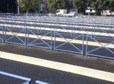 Barrières métalliques pour les bus scolaires d'Amboise (37)