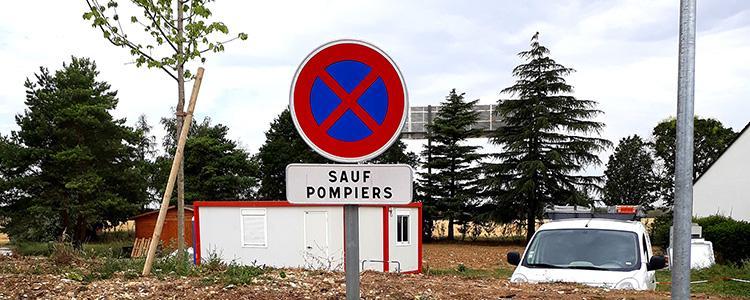 Panneaux et marquage au sol pour le Relais Saint Jacques Châteauroux (36)