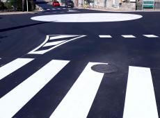 Réalisation d'un marquage giratoire (rond point, passages piéton et lignes de circulation) pour la ville de Semblancay (37)